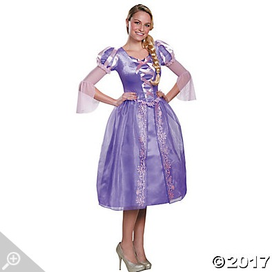 My favorite easy Halloween costume was this Rapunzel dress.