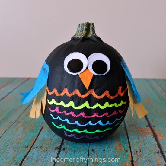 Owl No Carve Pumpkins