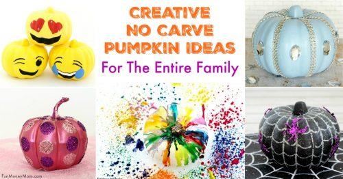 Creative no carve pumpkin ideas facebook