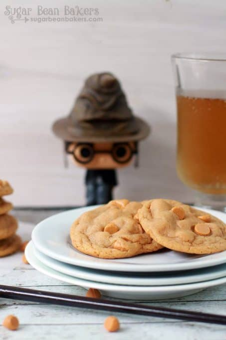 Butterbeer pudding cookies