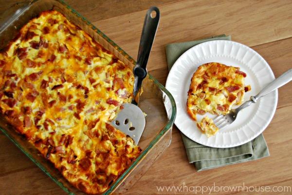 Breakfast casseroles - Ham, Egg & Cheese Casserole