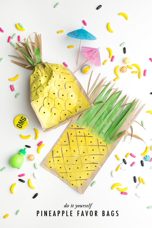 Pineapple craft for goodie bags