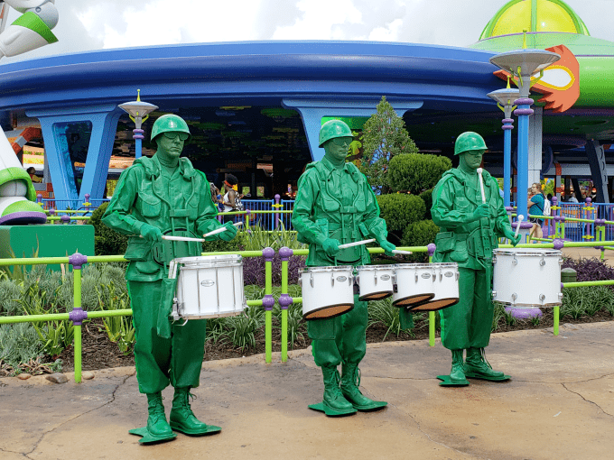 Green Army Man Drum Corps