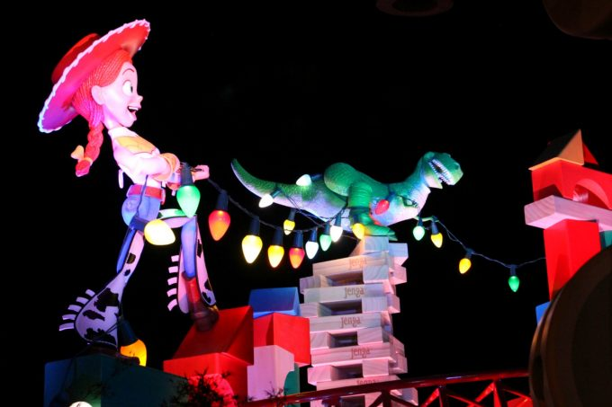 Toy Story Land is just as much fun to see at night as it is during the day