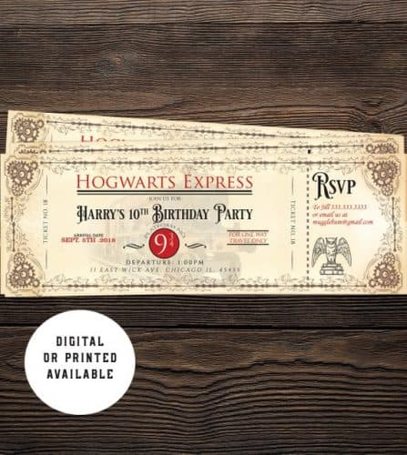 Hogwarts Express Birthday Invitations