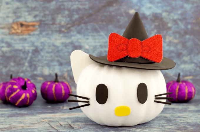 Cute pumpkin idea featuring Hello Kitty