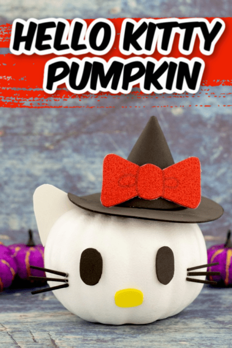 Hello Kitty Pumpkin with red bow