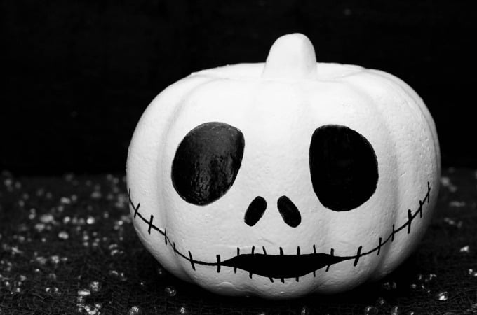 Disney inspired cute pumpkin idea with Jack Skellington