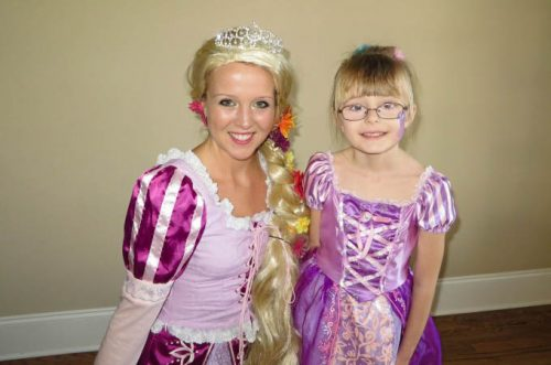 Birthday party with Rapunzel