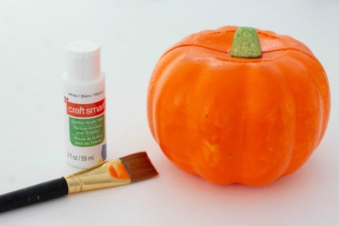 Foam pumpkin for Jack Skellington