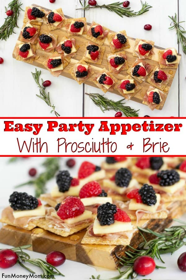 Brie And Prosciutto Appetizer - This easy appetizer recipe is an easy party food that's perfect for any occasion, including holiday parties and family get togethers. #ad #HolidaysWithTriscuit #IC #appetizer #partyfood #cheeseandcrackers #easyappetizer #easyrecipe