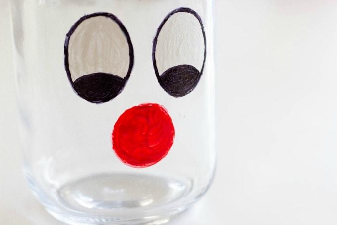 Reindeer mason jar nose