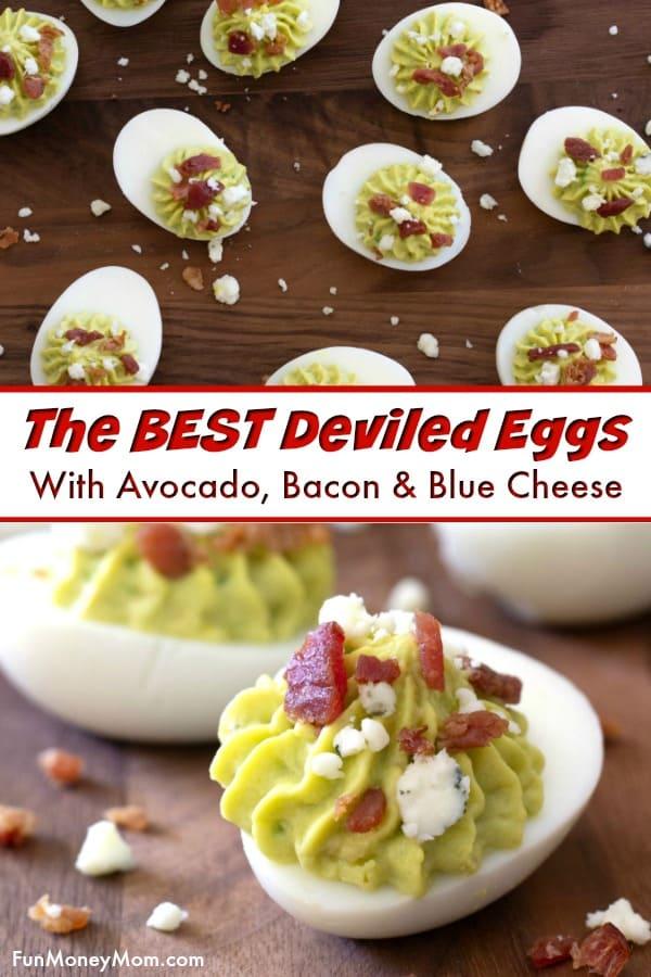 Avocado Deviled Eggs Pin