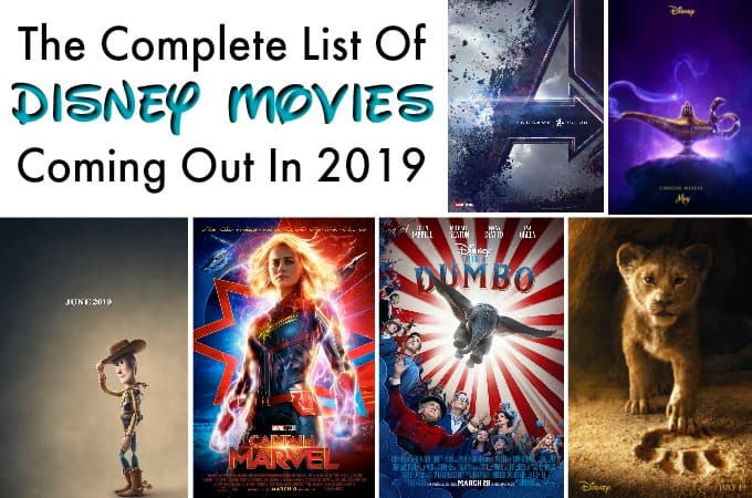 Disney Movies coming out in 2019