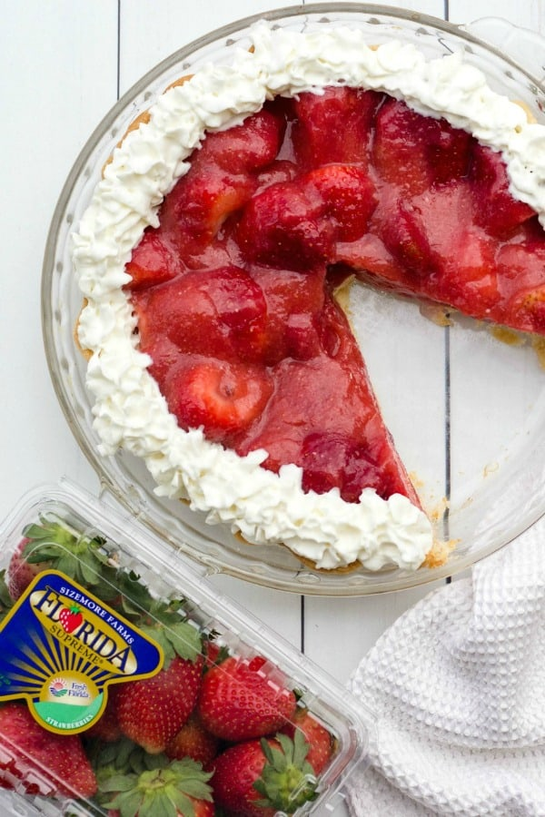 Pie with Fresh From Florida strawberries