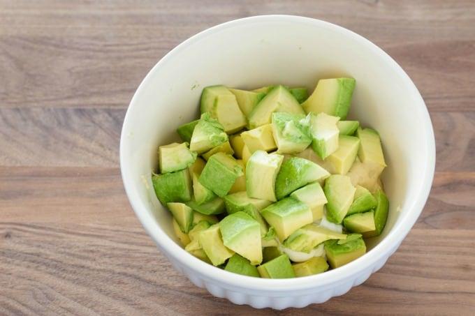Avocados for deviled egg recipe