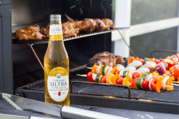 Michelob ULTRA Gold and BBQ grill