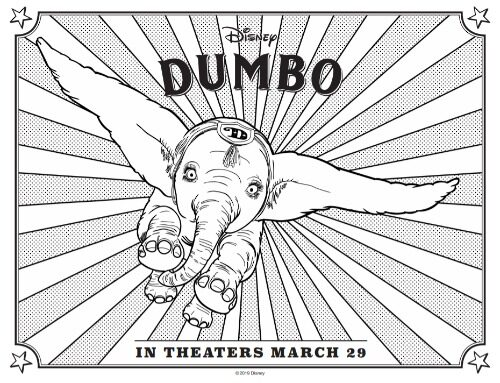 Dumbo Coloring Page 2a