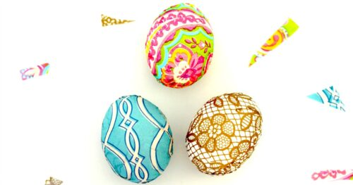 Napkin Easter eggs