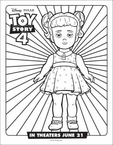Gabby Gabby From Toy Story Coloring Page
