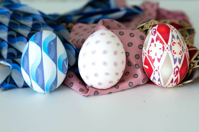 Silk Tie Easter Eggs finished