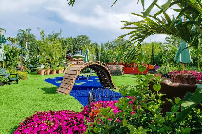 Playful Garden bridge