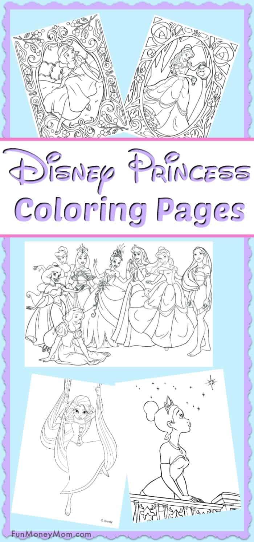 Disney Princess Coloring Pages Fun Money Mom
