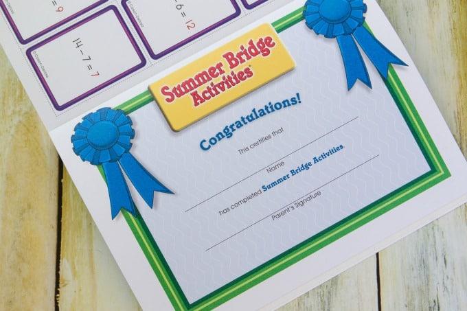 Summer Bridge Certificate
