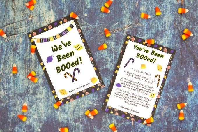 You've been booed printable with candy corn