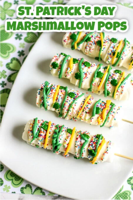 St. Patrick's Day Marshmallow Pops pin 1