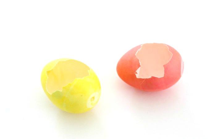broken Easter eggs