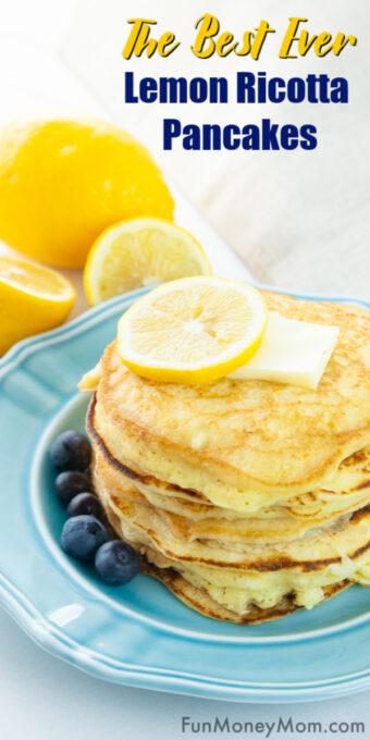 Lemon Ricotta Pancakes Pin 2