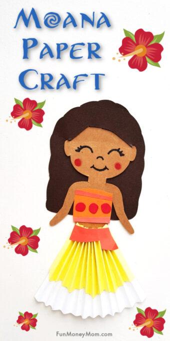 Moana paper craft