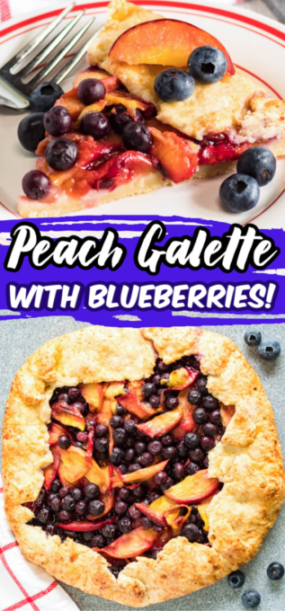 Blueberry peach galette