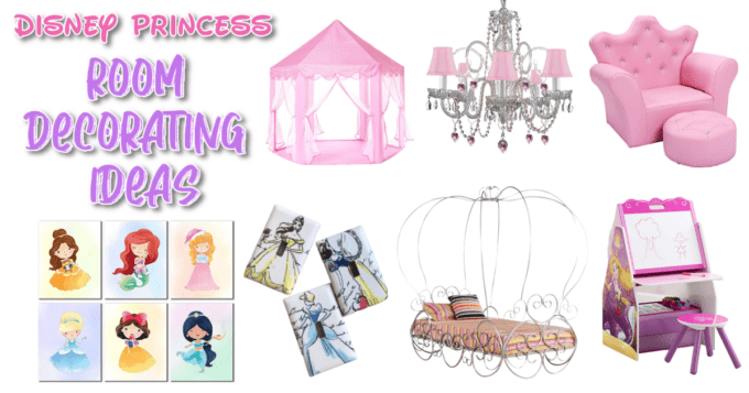 Pictures of decor for a Disney princess bedroom