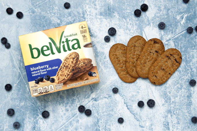 belVita Breakfast biscuits with blueberries