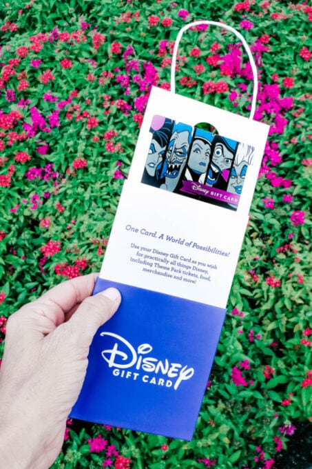This Disney villains gift card is perfect for Halloween giving