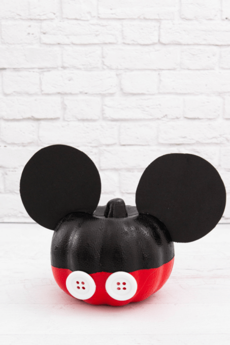 Mickey Mouse pumpkin with white background