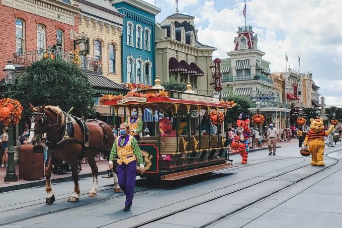 Winnie The Pooh cavalcade at Disney World