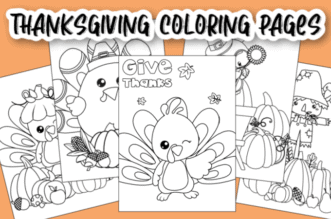 Thanksgiving Coloring Pages feature