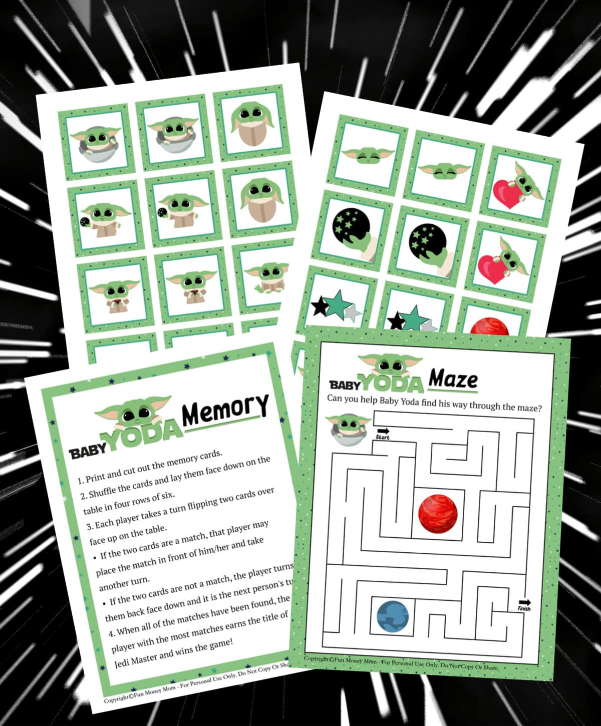 Love Baby Yoda?  Get These Free Baby Yoda Activity Pages!