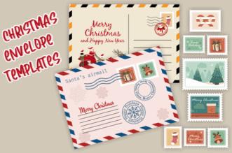 Christmas envelope templates feature