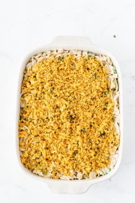 Food in baking pan