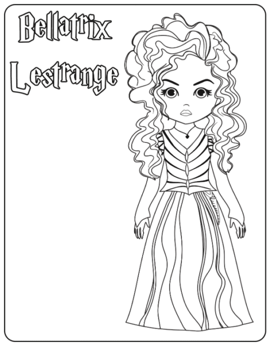Bellatrix Lestrange coloring page