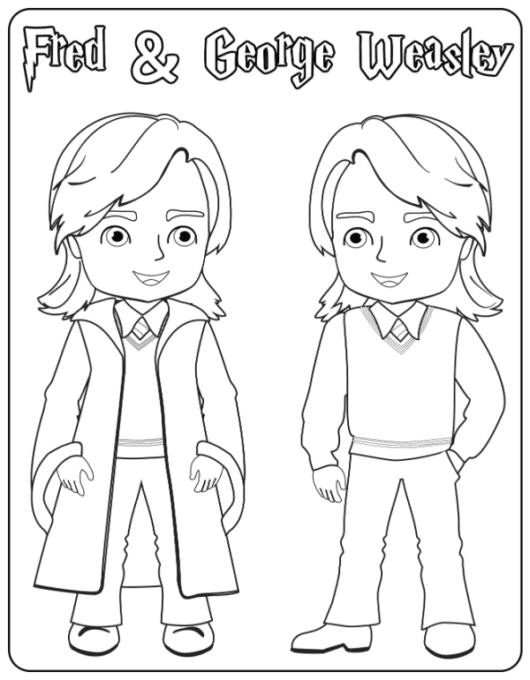 The Weasley Twins coloring page