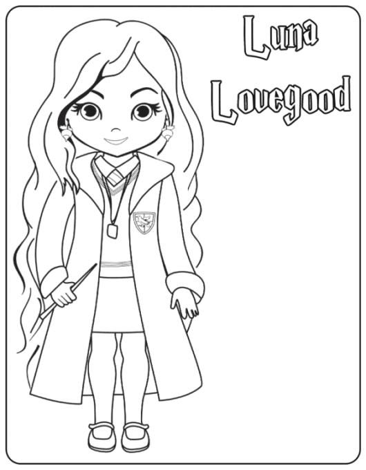 Luna Lovegood coloring page