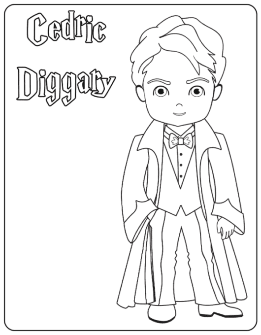 Cedric coloring page