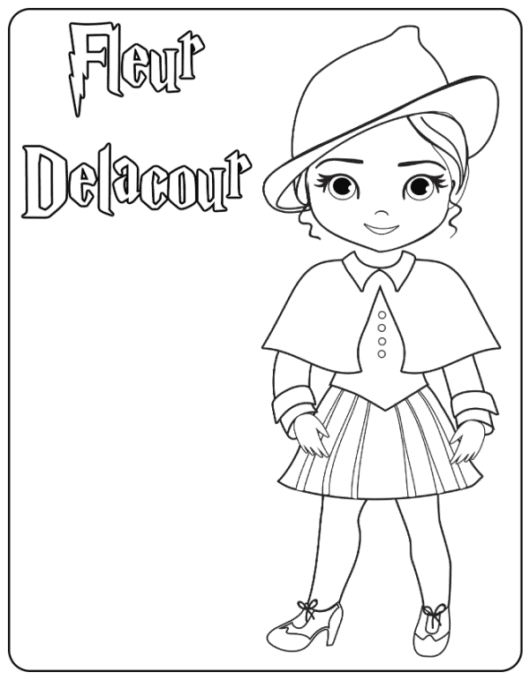 Fleur Delacour coloring page