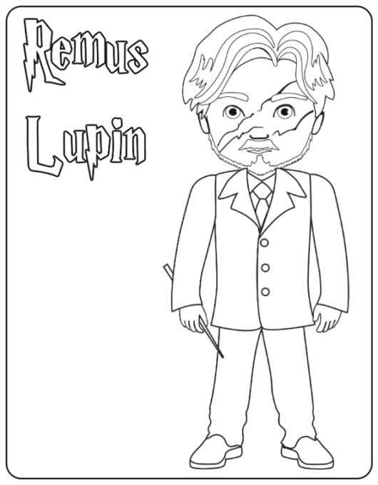 Remus Lupin coloring page