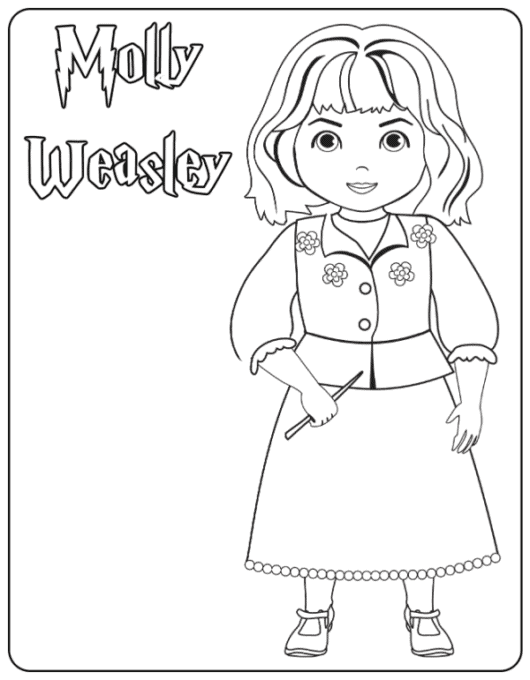 Molly Weasley coloring page
